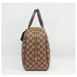 Louis Vuitton-Sac Boston Deauville SPO Femme N47272 Damier Ebene-Autre
