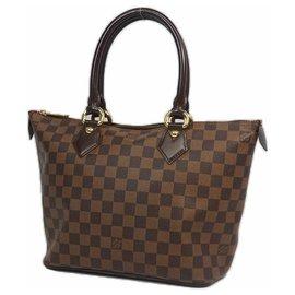 Louis Vuitton-SaleyaPM Sac cabas pour femmes N51183 Damier Ebene-Autre