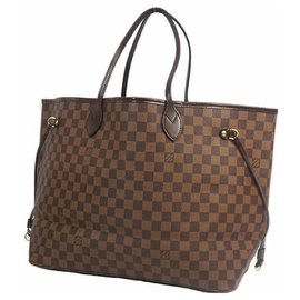 Louis Vuitton-NeverfullGM Womens tote bag N51106 damier ebene-Other