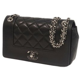 Chanel-matelasse W flap chain Womens shoulder bag black x silver hardware-Other