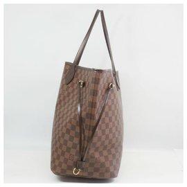 Louis Vuitton-NeverfullGM Sac cabas pour femmes N51106 Damier Ebene-Autre