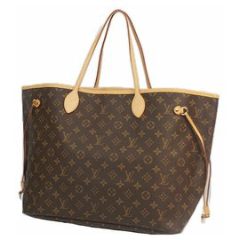 Louis Vuitton-NeverfullGM Womens tote bag M40157 Brown-Brown