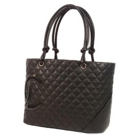 Chanel-Cambon large tote Womens tote bag A25169 black x black-Other
