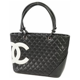 Chanel-Cambon large tote Womens tote bag A25169 black x white-Other