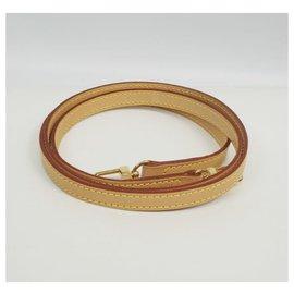 Louis Vuitton-bandoulière en cuir marron-Marron