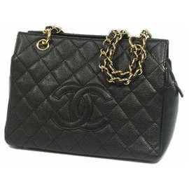 Chanel-Medallion chain tote Womens tote bag black x gold hardware-Other