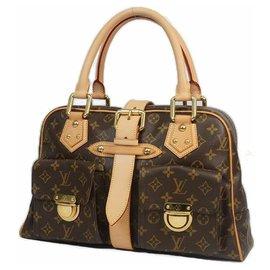 Louis Vuitton-ManhattanGM Womens Boston bag M40025 Brown-Brown