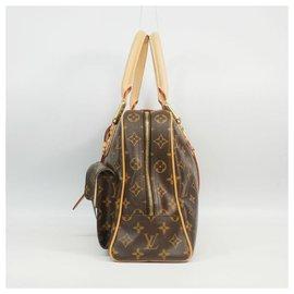 Louis Vuitton-ManhattanGM Sac Boston pour femmes M40025 marron-Marron