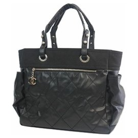 Chanel-Paris Biarritz toteGM Womens tote bag A34210 black-Black
