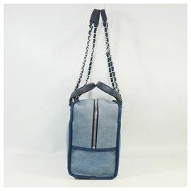 Chanel-Deauville 2Sac à main femme WAY bandoulière�E� A92750 matériel bleu x argent-Autre