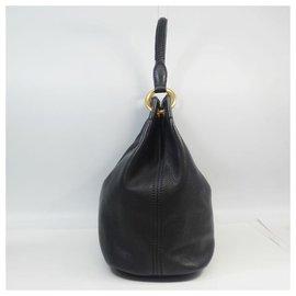 Prada-one shoulder Womens shoulder bag BR4712 black x gold hardware-Other