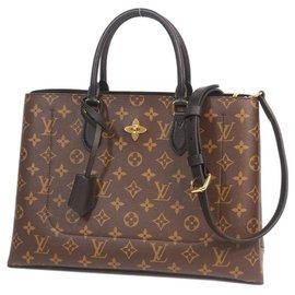 Louis Vuitton-Flower tote Womens tote bag M43550 Noir( black)-Other