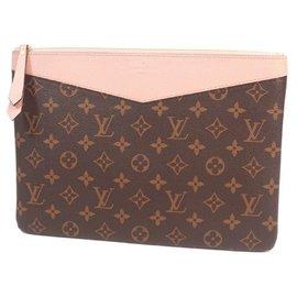 Louis Vuitton-LOUIS VUITTON Pochette quotidienne Pochette femme M62942 rose Poudre-Autre