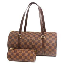 Louis Vuitton-LOUIS VUITTON Papillon 30 GM w pouch Womens Boston bag N51303 Damier ebene-Other