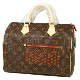 Louis Vuitton-Speedy30 Womens Boston bag M95182 orange-Orange