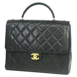 Chanel-sac à main femme sac à main noir x matériel or-Autre