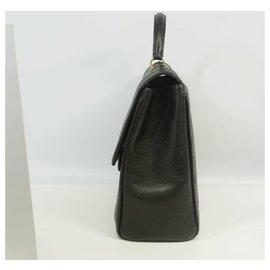Chanel-business bag Womens handbag black x gold hardware-Other