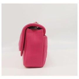 Chanel-bandoulière chaîne matelasse�E� Sac à bandoulière femme rose x matériel argenté-Autre