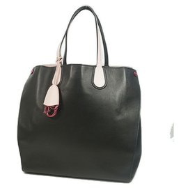 Dior-Christian  Christian  Addict Womens tote bag black x pink-Other