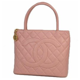 Chanel-Medallion tote Womens tote bag A01804 pink x gold hardware-Other