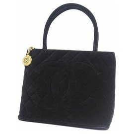 Chanel-Medallion tote Womens tote bag black x gold hardware-Other