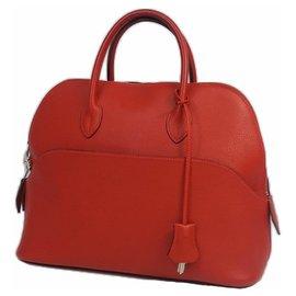 Hermès-Boledo1923 Sac à main femme rouge x matériel argent-Autre