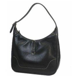 Hermès-trim31 Womens shoulder bag black x silver hardware-Other