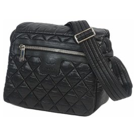 Chanel-COCocoon Womens shoulder bag A48616 black x silver hardware-Other