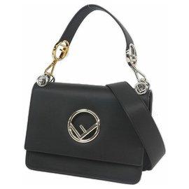 Fendi-Kan I f 2WAY Womens handbag 8BT284 black-Black