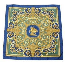 Hermès-Carré90 LES TUILERIES Tuileries park Womens scarf Navy-Navy blue