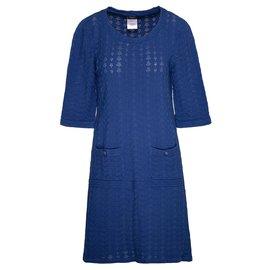 Chanel-Paris - Robe bleue Dubai-Bleu