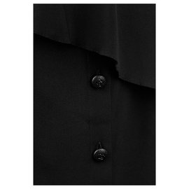 Chanel-ensemble multicouches en soie-Noir