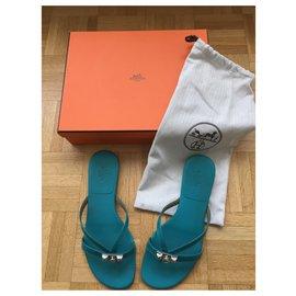 Hermès-Sandales Hermès-Bleu
