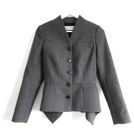 Christian Dior-AW09 Grey Wool Bar Jacket-Dark grey