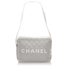 Chanel-Sac bandoulière en nylon gris Chanel Sports Line-Gris