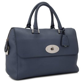 Mulberry-Mulberry Blue Leather Handbag-Blue,Dark blue