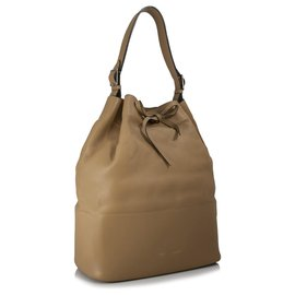 Céline-Celine Brown Seau Drawstring Bucket Bag-Brown,Light brown