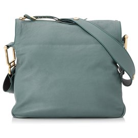 Chloé-Chloe Blue Vanessa Leather Shoulder Bag-Blue,Light blue