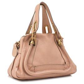 Chloé-Chloe Pink Paraty Leather Satchel-Pink