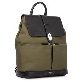 Mulberry-Mulberry Green Reston Nylon Backpack-Black,Green,Dark green