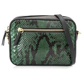 Mulberry-Mulberry Green Snakeskin Crossbody Bag-Black,Green