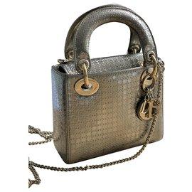 Christian Dior-mini lady dior-Golden