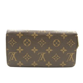 Louis Vuitton-Louis Vuitton Monogram Long Zip Around Organizer Wallet-Brown