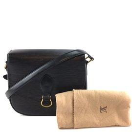 Louis Vuitton-Louis Vuitton Saint Cloud Black Epi Leather-Black