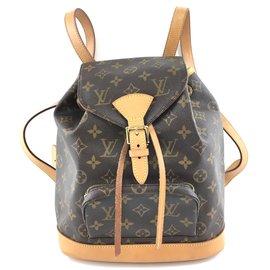 Louis Vuitton-Louis Vuitton Montsouris MM Monogram Canvas-Brown