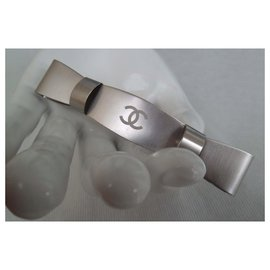 Chanel-BAR KNOT-Silvery