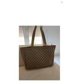 Gucci-Abbey pocket tote bag-Caramel