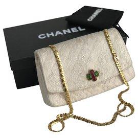 Chanel-Rare Timeless Vintage Handbag-Beige,Cream