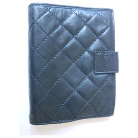 Chanel-Chanel black leather diary-Black