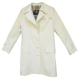 Burberry-imperméable Burberry London t 38-Blanc